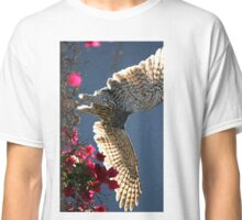 Cooper's Hawk Hunting In Bougainvillea Classic T-Shirt