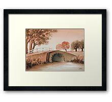 OLD BRIDGE IN OLD BROWN Framed Print