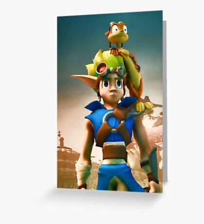 Jak and Daxter cover Greeting Card