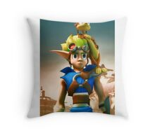 Jak and Daxter cover Throw Pillow