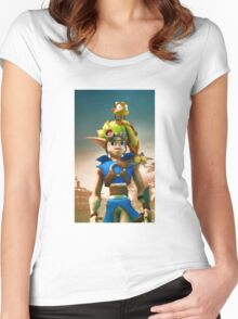 Jak and Daxter cover Women's Fitted Scoop T-Shirt