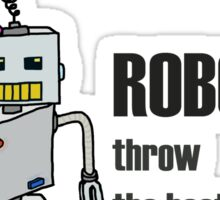 Robot Party Sticker