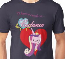 I have a crush on... Cadance - with text Unisex T-Shirt