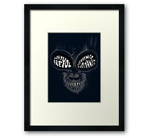 Donnie Darko: Questioning Frank's Bunny Suit Framed Print