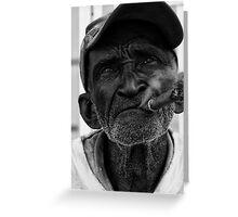 Smoking. Greeting Card