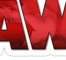 Jaws Logo Tee Sticker