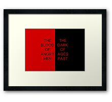Red & Black #1 Framed Print