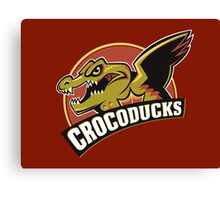 Crocoducks Canvas Print