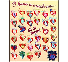 I have a crush on... all of them! - 3 Photographic Print