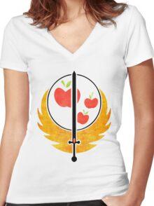 Applejack's Rangers Logo Women's Fitted V-Neck T-Shirt