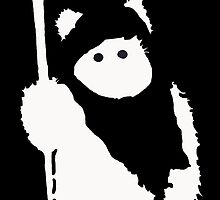 Ewok Silhouette (Black) by Kiipleny