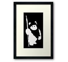 Ewok Silhouette (Black) Framed Print