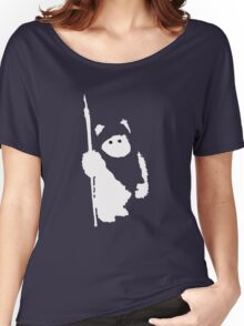 Ewok Silhouette (Black) Women's Relaxed Fit T-Shirt