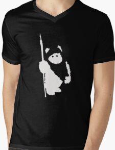 Ewok Silhouette (Black) Mens V-Neck T-Shirt