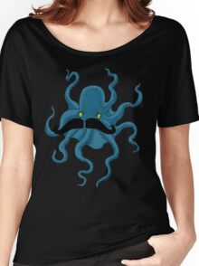 Octopus with a Mustache Women's Relaxed Fit T-Shirt