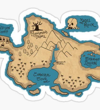 Map of Neverland Sticker