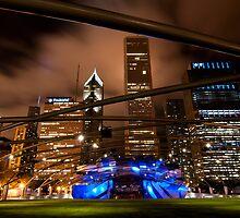 Chicago Skyline from Millennium Park by Eric Tsai