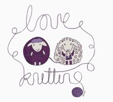 love knitting couple Kids Tee