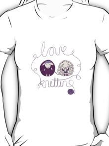 love knitting couple T-Shirt