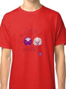 love knitting couple Classic T-Shirt