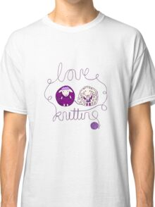 love knitting couple Classic T-Shirt