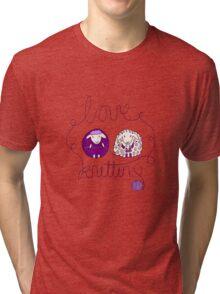 love knitting couple Tri-blend T-Shirt