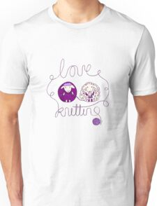 love knitting couple Unisex T-Shirt