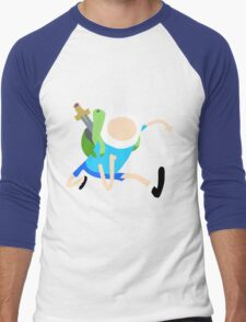 Finn The Human (Simplistic) Men's Baseball ¾ T-Shirt