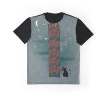 Animal's Nightlife - Urban Cat Graphic T-Shirt