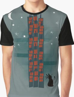 Animal's Nightlife - Urban Cat Graphic T-Shirt