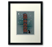 Animal's Nightlife - Urban Cat Framed Print