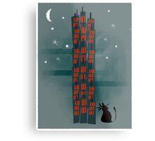 Animal's Nightlife - Urban Cat Metal Print