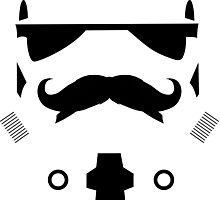 Mustached Trooper Photographic Print