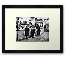 Please, Take A Number and Wait Your Turn. Framed Print
