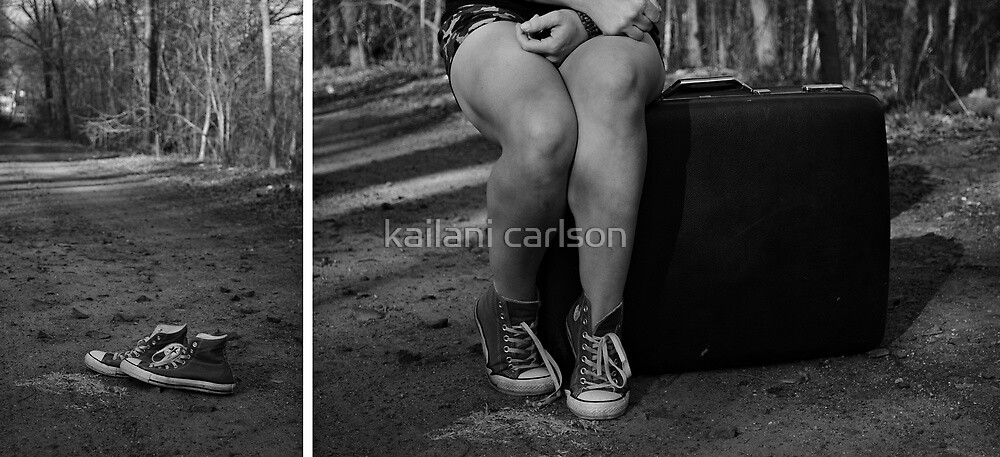 """Self Portrait- Diptych """"I'm Leaving Home!"""" by MJD Photography  Portraits and Abandoned Ruins"""