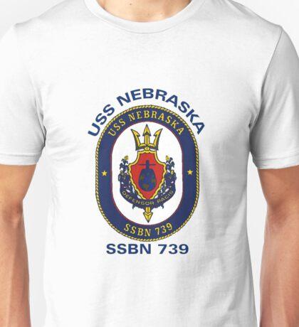 USS Nebraska (SSBN-739) Crest Unisex T-Shirt