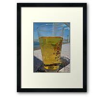 A cold glass of beer..... Framed Print
