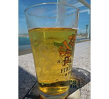 A cold glass of beer..... Photographic Print