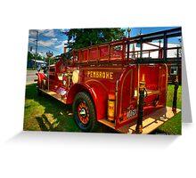 Vinatage Fire Tender Greeting Card