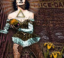 Art / Temperance: Circus Tarot from Duck Soup Productions Sticker