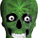 Pot Leaf Skull and Doob by TinaGraphics