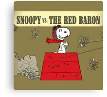 snoopy vs the red baron Canvas Print