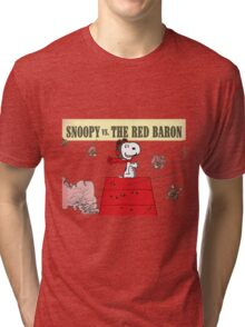 snoopy vs the red baron Tri-blend T-Shirt