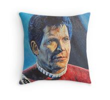 Shatner as Kirk in colored pencil  Throw Pillow