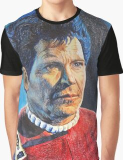 Shatner as Kirk in colored pencil  Graphic T-Shirt
