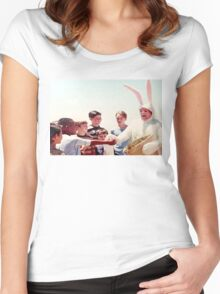 Chris Farley Easter Bunny Black Sheep Photo Women's Fitted Scoop T-Shirt