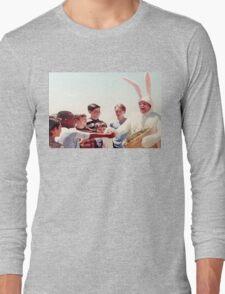 Chris Farley Easter Bunny Black Sheep Photo Long Sleeve T-Shirt