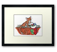 Catnip Christmas Framed Print