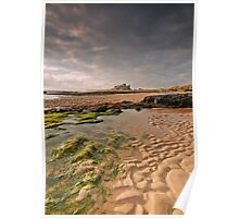 Early morning light on Bamburgh Castle, Northumberland Poster