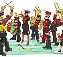 Pegswood Miners Colliery Band - Coloured in by Jan Szymczuk